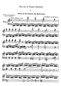 sheet music Czerny op 740