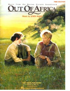 out of africa sheet music