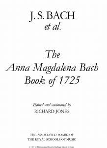 bach sheet music pdf
