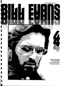 sheet music Bill Evans play