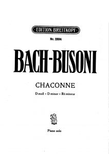 Bach sheet music