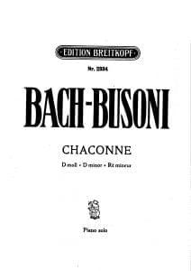 Bach sheet music