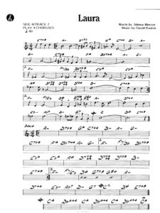 laura sheet music partitura