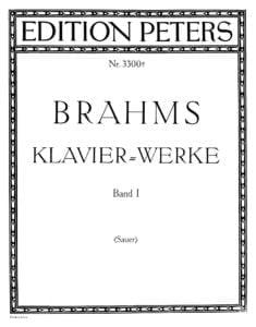brahms sheet music partitura