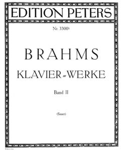 brahms sheet music partitura