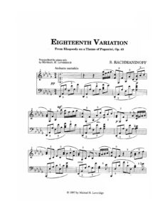 Rachmaninoff sheet music download partitura partition spartito