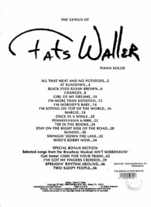 Fats Waller Pianosolos sheet music download partitura partition spartito
