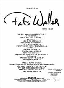 Fats Waller Pianosolos sheet music download partitura partition spartito